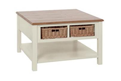 Premier Housewares Dorset Coffee Table, Wood, Cream