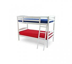 Amazing Moderna Wooden Bunk Bed (White) 3Ft
