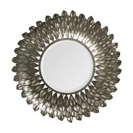 Protege Homeware Iron / Glass / MDF Grey Tribeca Wall Mirror