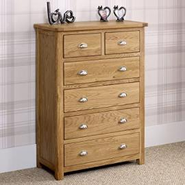 Kent Oak 2 over 4 Drawer Chest