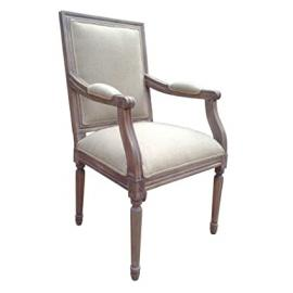 French Vintage Style Armchair - Ash Finish