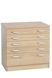 B-ARD-IN-BE Beech A2 Plan Chest Drawing Cabinet Home Office Furniture UK Modular Computer Draughtsman's Desk Height Drawers Unit Printer Paper Storage Horizontal Architect Chart