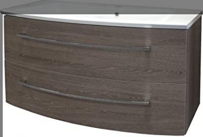 Fackelmann Rondo Sink Vanity Unit, Oak/Oak Cognac/Bathroom Furniture