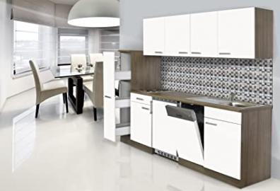 respekta Fitted Kitchen Kitchenette York Apothecary 225 CM Oak Imitation White