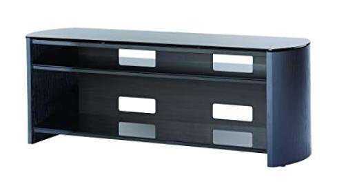 Finewoods TV Stand 3Black ETG Index Black Oak 1350mm