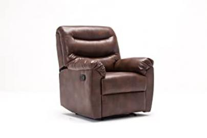 Birlea Furniture Regency Faux-Leather Recliner Chair, Bronze Brown