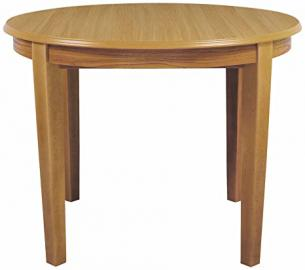 Caxton 4 Leg Fixed Top Round Dining Table - Sherwood Range (Oak)