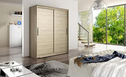 WARDROBE WEST 1 SONOMA 150 cm wide 2 sliding doors many colours