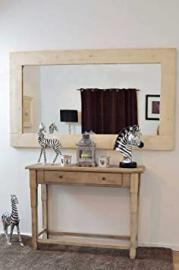 Large New White Solid Natural Wood Wall Mounted Mirror 6Ft X 4Ft 183cm X 122cm