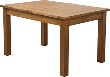 Hermosa Kendal Solid Extending Dining Table with Lacquer Finish, Oak/Brown, 132 x 92 x 77 cm