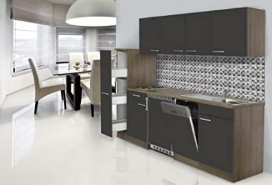 Respekta Recessed Kitchen Furniture 225cm York Oak/Grey