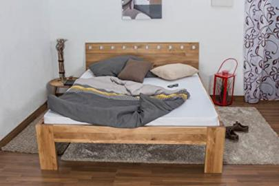 Youth Bed Wooden Nature 83, solid wild oak, oiled - 140 x 200 cm
