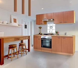 Respekta Kitchen Kitchenette Complete Kitchen 210 cm Beech Beech Replica KB210BBE
