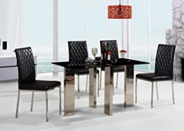 Othello Black Dining Table