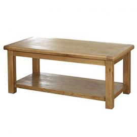 Birlea Malvern Oak Wood Large Coffee Table Solid Assembled