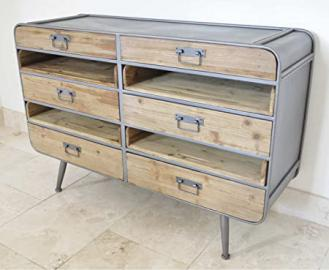 6 DRAWERS ROUNDED CORNERS INDUSTRIAL CABINET