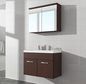 Bathroom cabinet Paso 02 80cm basin wenge - Mirror storage cabinet vanity unit sink furniture
