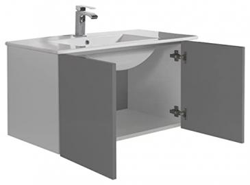 aleghe Eris Bathroom Cabinet, Anthracite Gloss