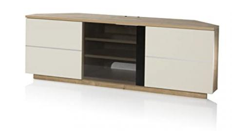 UK-CF New Milan Oak/Cream TV stand for up to 65 inch TVs