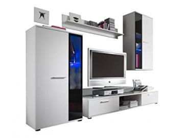 Furnline Salsa TV Stand Wall Unit Living Room Furniture Set, White