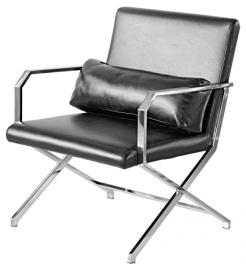 Febland Martello Executive Leisure Chair, Faux Leather, Black