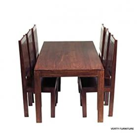 Solid Mango Dakota Dining Table 6ft (1.8m) with 6 Wooden Chairs