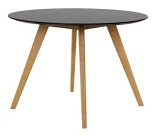 Tenzo BESS Designer Dining Table, 75 x 110 cm, Black/Oak