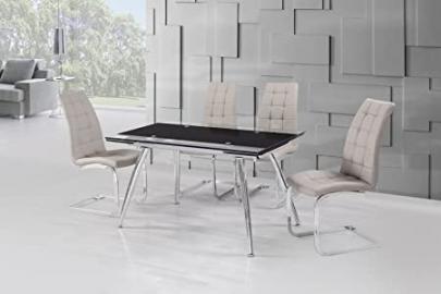 Micha (175cm) Dining Table Black