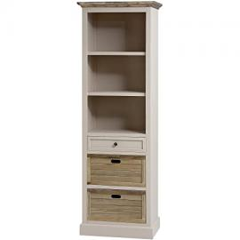 WARM GREY TALL BOOKCASE STORAGE UNIT WITH SHELVING AND DRAWERS OFFICE FIELDING (H16252) ** FULL RANGE OF MATCHING FURNITURE IS AVAILABLE **