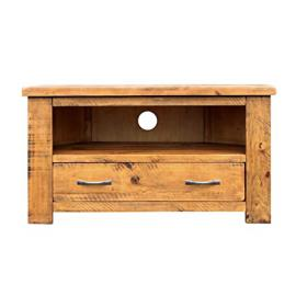 Loma Living Elcombe Corner TV Unit, Wood, Brown