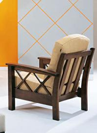"""Armchair """"Jose poor art"""" with solid wood structure fully removable and prompt delivery 72 x 85 x 92 - Made in Italy"""