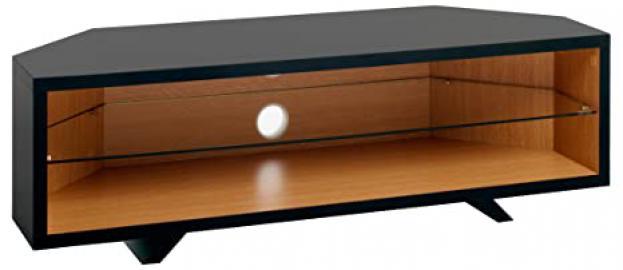 TECHLINK DL115SBLO Dual Corner and Oak Stand for Upto 50-Inch TV - Satin Black