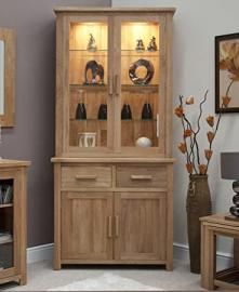 Eton solid oak furniture small dresser display cabinet
