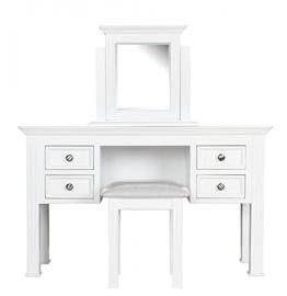 Chateau french dressing table mirror & stool white painted bedroom furniture