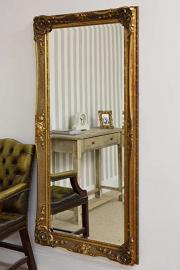 Large Gold Ornate Bevelled Mirror