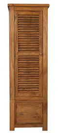 Modasa Living Mango Wood 1 Door 1 Drawer Single Wardrobe / Solid Stone Finish Mango Wood Single Wardrobe / Mango Wood Bedroom Furniture
