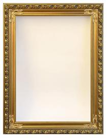 Mirror/ Picture Frame Decorated with Gold Leaves