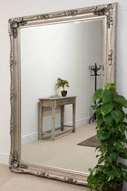 Carved Louis Silver 215 x 154 mirror