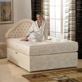 Deluxe Beds Ltd Super 4Ft 6 Double 1000 Pocket Sprung Bed With Mattress - Bed With 2 Drawers Same Side
