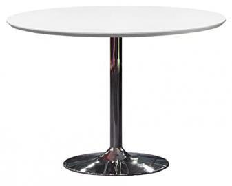 Tenzo TEQUILA Designer Dining Table, 74.5 x 110 cm, White/Chrome