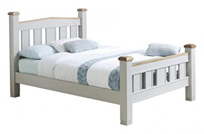 Birlea Woodstock Bed, Wood, Grey/Oak, Kingsize, 5ft