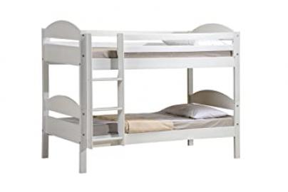 Design Vicenza Maximus Bunk Bed, Wood, White, Single, 3 ft