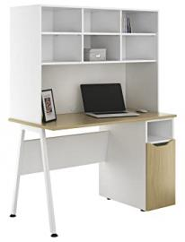 Kit Out My Office UCLIC A Frame Desk Cupboard with 1 Door Base and Open Upper Storage, Metal, Natural Oak, 1200 mm