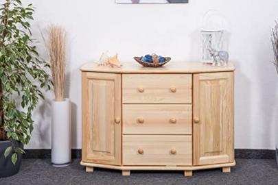 Dresser solid natural pine wood 054 - Dimensions 78 x 118 x 47 cm (H x B x T)