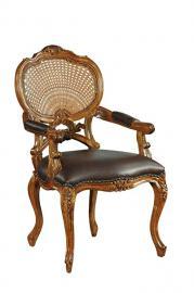 Hampton Rattan Chair with leather