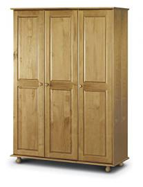 Julian Bowen Pickwick 3 Door Pine Wardrobe with Fitted Interior