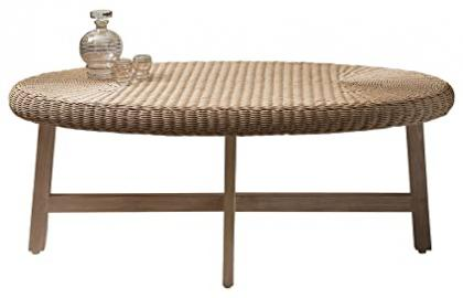 Gallery Direct Kew Chunky Oval Coffee Table, Wood, Natural