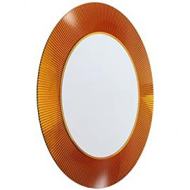 Kartell Mirror, 9950AM, brown, ø 78 x 4 cm, h 78 cm