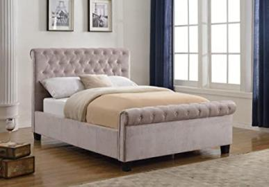Flair Furnishings Lola Fabric Bed Mink Kingsize