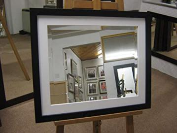 """NEW LARGE MODERN BLACK & WHITE FRAMED BEVEL OVERMANTLE WALL MIRRORS - 6 SIZES AVAILABLE - PRICES FROM £63.99, 46"""" X 36"""""""
